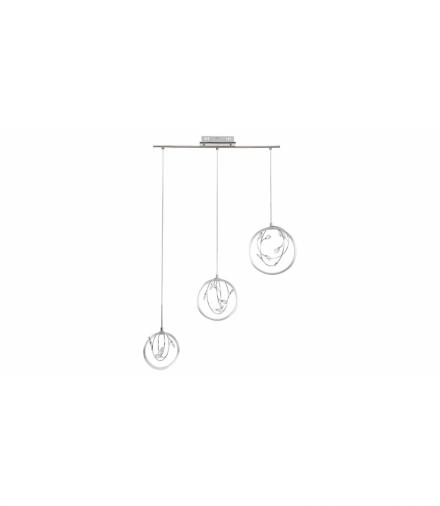 Lampa wisząca CHRISSY LED 20W, IP20 1400lm, 3000K, srenbrny chrom kryształ przezroczysty Rabalux 1494