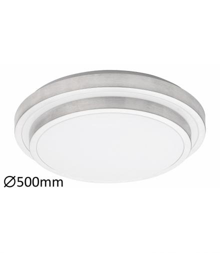 Plafon ASPEN LED 36W, IP20 1940lm, 3000K, szczotkowane aluminium biały Rabalux 1517