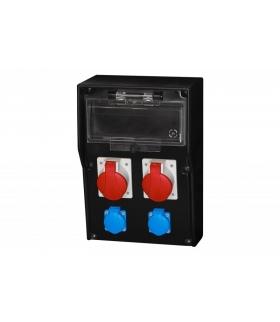Rozdzielnica gumowa LIDO 12S, 16A 5p, 32A 5p, 2x250V /12 modułów/