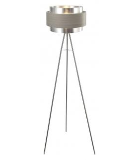 Lampa stojąca Basil E14 1x max.40W chrom satyna srebrny dąb Rabalux 5385