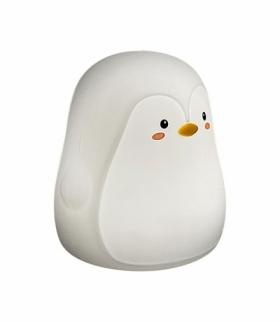 Lampka dziecięca Baloo pingwin DC 5V RGB LED 0,4W 29lm,3000K IP20 biały Rabalux 5410