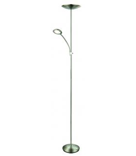 Vlasta Lampa stojąca LED Chrom satyna 3000K 1400+400Lumen 18W+5W Rabalux 7006