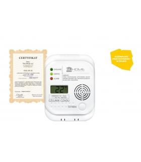 Czujnik TLENKU WĘGLA (czadu) El Home CD-77A4 - wyświetlacz LCD, termometr, bateryjny