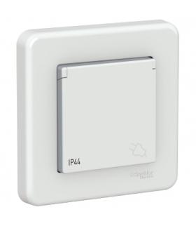 Leona Gniazdo 2P+PE IP44, biały Schneider LNA2800521