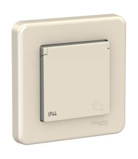 Leona Gniazdo 2P+PE IP44, kremowy Schneider LNA2800523