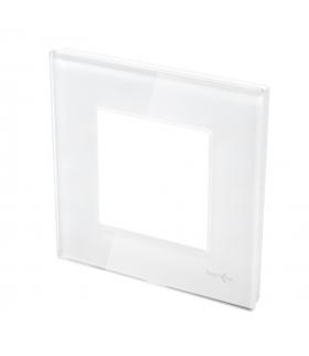 Ramka 1-krotna szklana, biała
