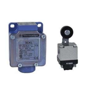 OsiSense XC Łącznik krańcowy, XCKL dźwignia z rolką z tworzywa sztucznego 1NC+1NO działanie migowe 1/2NPT, XCKL115H7 Schneider E