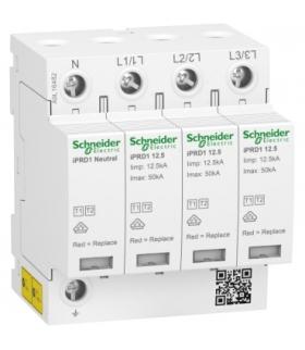 Ogranicznik przepięć iPRD1 12.5R-T12-3N 3+1-biegunowy Typ1+Typ2 12,5 kA ze stykiem, A9L16482 Schneider Electric