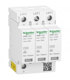 Ogranicznik przepięć iPRD1 12.5R-T12-3 3-biegunowy Typ1+Typ2 12,5 kA ze stykiem, A9L16382 Schneider Electric