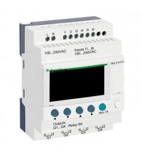 Przekaźnik programowalny Zelio Logic 6 wejść 4 wyjścia 120VAC, SR2A101FU Schneider Electric