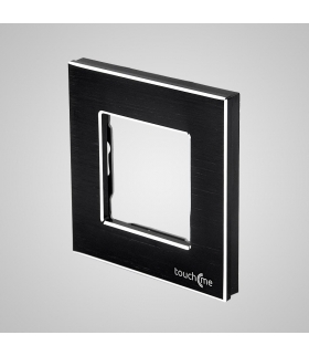 Ramka 1-krotna aluminiowa, czarna