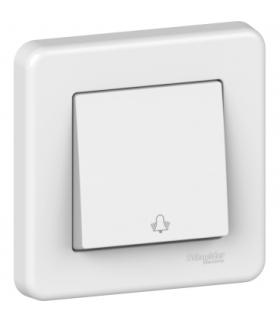 Leona Przycisk 1-biegunowy dzwonek, biały Schneider LNA0800321