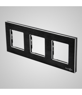 Ramka 3-krotna aluminiowa, czarna
