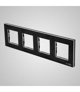 Ramka 4-krotna aluminiowa, czarna