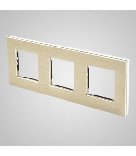 Ramka 3-krotna aluminiowa, złota
