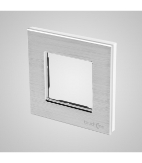 Ramka 1-krotna aluminiowa, srebrna