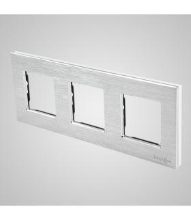 Ramka 3-krotna aluminiowa, srebrna