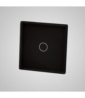 Mały panel szklany, łącznik pojedynczy, czarny