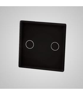 Mały panel szklany, łącznik podwójny, czarny