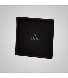 Mały panel szklany, dzwonek, czarny