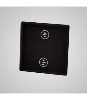 Mały panel szklany, żaluzja, czarny