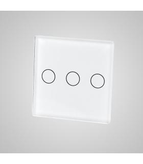 Mały panel szklany, łącznik potrójny, czarny