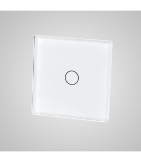 Mały panel szklany, łącznik pojedynczy, biały