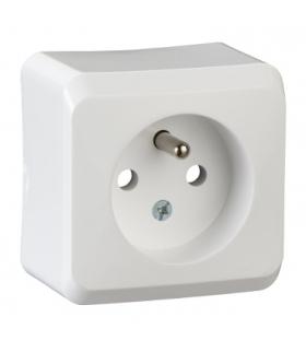Prima Gniazdo pojedyncze 2P+PE biały Schneider WDE001030