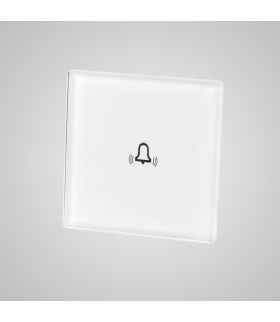 Mały panel szklany, dzwonek, biały