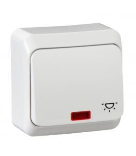 """Prima Przycisk """"światło"""" z podświetleniem biały Schneider WDE001016"""