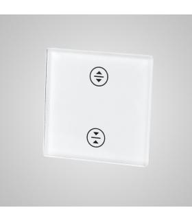 Mały panel szklany, żaluzja, biały