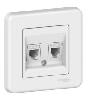 Leona Gniazdo telefoniczne podwójne, biały Schneider LNA4200121