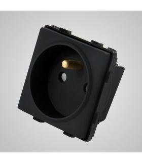 Gniazdo z bolcem, modułowe, czarne - Touchme