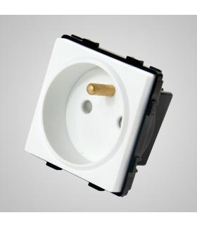 Gniazdo z bolcem, modułowe, białe - Touchme