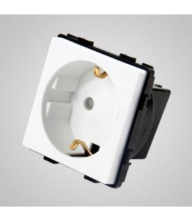Gniazdo schuko, modułowe, białe - Touchme