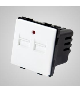 Gniazdo z 2 złączami USB, białe  - Touchme