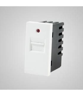 Moduł 1/2, gniazdo USB, białe - Touchme