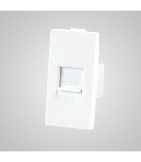 Moduł 1/2, gniazdo telefoniczne RJ11, białe - Touchme