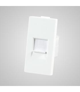Moduł 1/2, gniazdo komputerowe RJ45, białe - Touchme
