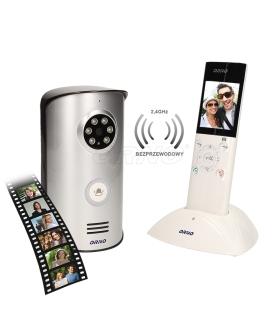 """Zestaw wideodomofonowy, bezprzewodowy, kolor. 2,4"""" pamięć, natynkowy, IP55, HABEO MEMO"""