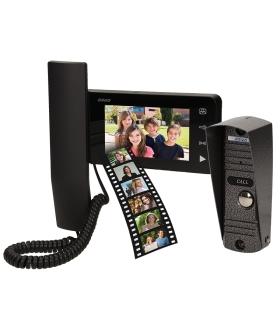 """Zestaw wideodomofonowy słuchawkowy, kolor, 4,3"""", pin hole, natynk, pamięć, LIBER MEMO"""