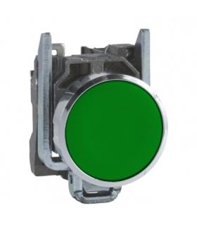 Harmony XB4 Przycisk płaski zielony, metalowy, XB4BA31 Schneider Electric