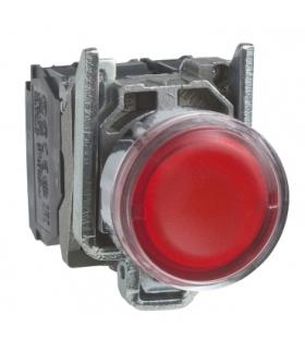 Harmony XB4 Przycisk płaski czerwony LED 24V, XB4BW34B5 Schneider Electric
