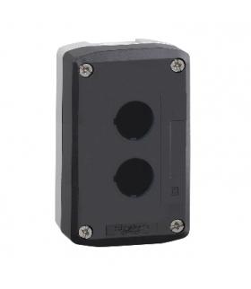 Harmony XALD Pusta kaseta sterująca 2 otwory Ø22 ciemnoszara z jasnoszarą bazą, plastikowa, XALD02 Schneider Electric