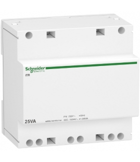 Transformator bezpieczeństwa Acti9 iTR-S-25/12-24 25 VA 12-24 VAC, A9A15219 Schneider Electric