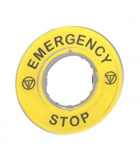 """Harmony XB4 Etykieta do ESTOP """"EMERGENCY STOP"""", ZBY9320 Schneider Electric"""