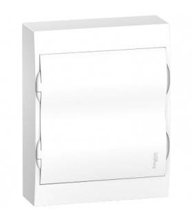 Obudowa natynkowa Easy9 IP40 EZ9E-2-12-NT-P drzwi białe 2 rzędy 12 modułów/rząd, EZ9E212P2S Schneider Electric
