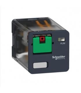 Zelio Relay Przekaźnik interfejsowy z przyciskiem test 2C/O 10A, 24V AC, RUMC21B7 Schneider Electric