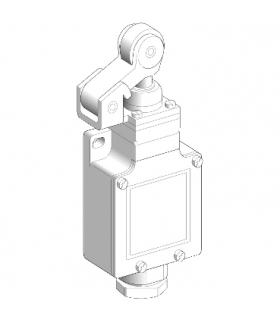 OsiSense XC Łącznik krańcowy, XCKL dźwignia z rolką z tworzywa sztucznego 1NC+1NO jednopozycyjny 1/2NPT, XCKL121H7 Schneider Ele
