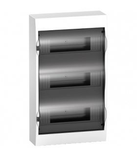 Obudowa natynkowa Easy9 IP40 EZ9E-3-12-NT-T drzwi transparentne 3 rzędy 12modułów/rząd, EZ9E312S2S Schneider Electric